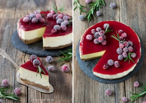 Glühwein-Cheesecake| cheesecake| Rezept für einen Weihnachts-Cheesecake mit Glühweintopping und gezuckerten Cranberries| mulled wine cheesecake with cranberries| Meine kreative Weihnachtsbäckerei | © monsieurmuffin