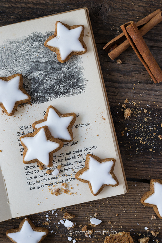 Zimtsterne| cinnamon stars recipe| christmas bakery | © monsieurmuffin