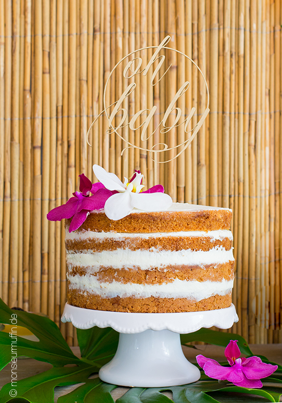 Zitronen-Törtchen mt Frischkäse-Frosting und Lemoncurd | Zitronen-Torte | Babyshower-Party | Karbik-Party | citrus cake | tropical sweet table | © monsieurmuffin