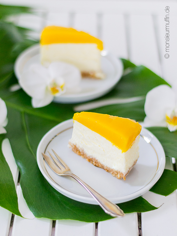 Mango-Cheesecake | Cheesecake with mango | Babyshower-Party | Karbik-Party | Tropical cake | tropical sweet table | © monsieurmuffin